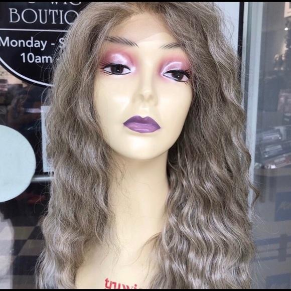 Accessories - Ash Blonde Wig 6X6 Freepart Human hair Blende 2019